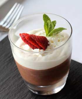 Dessert at Ses Oliveres Restaurant Port Soller
